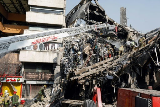 Effondrement d'un immeuble de 15 étages le 19 janvier 2017 à Téhéran © STR AFP/Archives