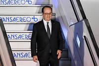 François Hollande était en voyage en Amérique du sud durant le premier tour de la primaire socialiste. ©LUIS ACOSTA