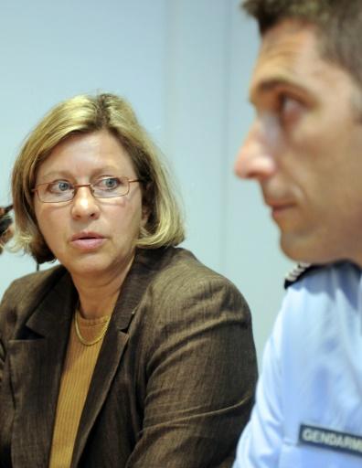 La procureur de Rennes Catherine Denis et le chef de la gendarmerie Christian Borie le 6 septembre 2010 à Rennes © DAMIEN MEYER AFP/Archives