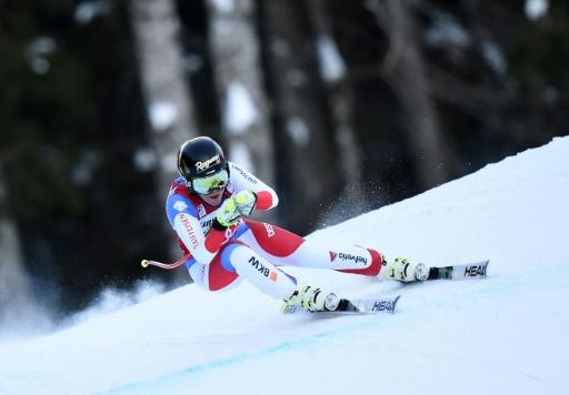 La Suissesse Lara Gut s'envole vers la victoire dans le super-G de Garmisch-Partenkirchen, le 22 janvier 2017 © Christof STACHE AFP