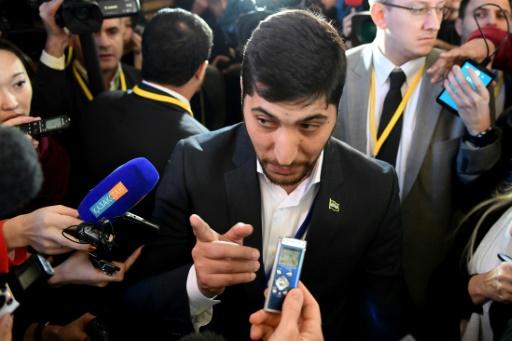 Un porte-parole rebelle, Ossama Abou Zeid, le 24 janvier 2017 à Astana © Kirill KUDRYAVTSEV AFP
