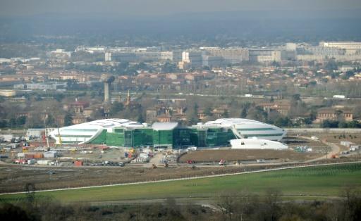 L'Institut Universitaire du Cancer de Toulouse édifié en partie sur le site de l'ancienne usine AZF © ERIC CABANIS AFP/Archives