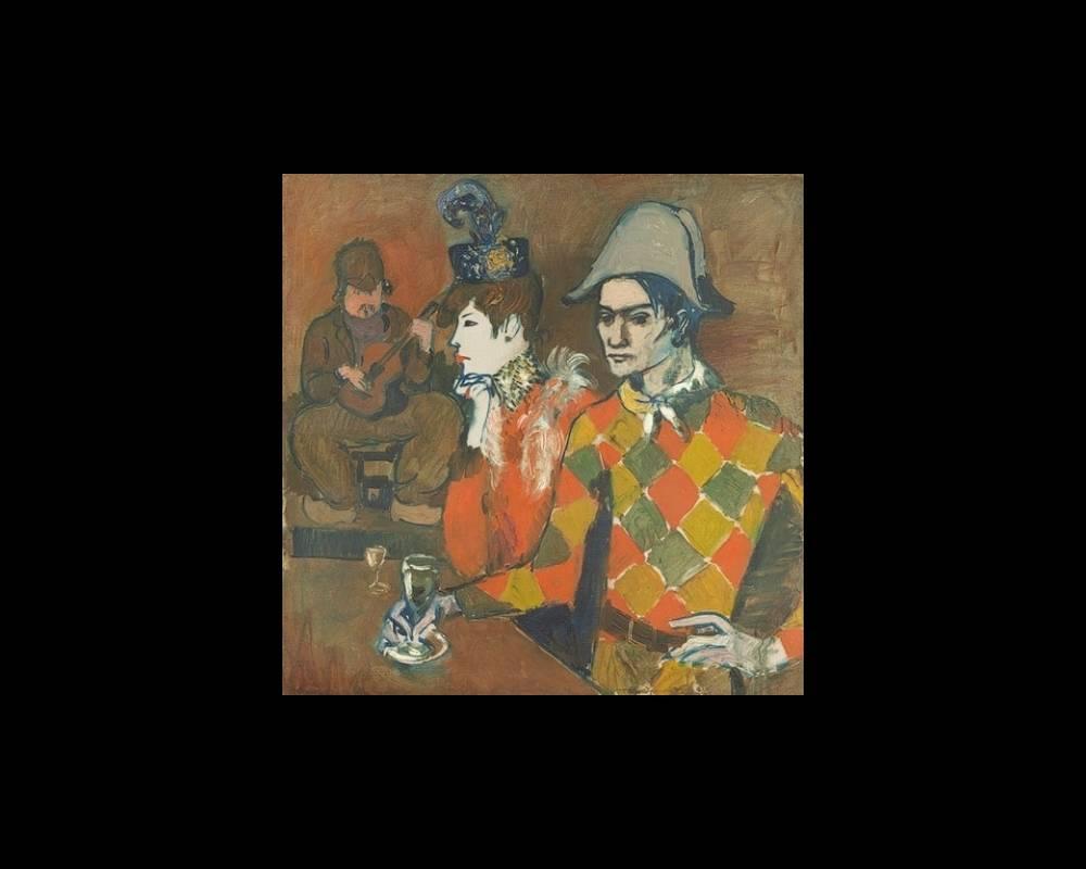 L'Arlequin au verre, de Picasso
