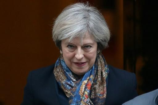 Theresa May au 10 Downing Street, le 24 janvier 2017 à Londres © Daniel LEAL-OLIVAS AFP