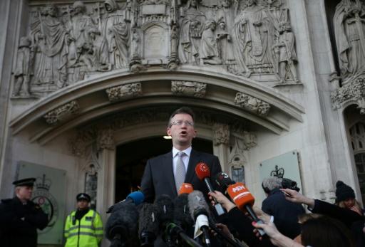 Le procureur général, Jeremy Wright, devant la Cour suprême le 24 janvier 2017 à  Londres © Daniel LEAL-OLIVAS AFP