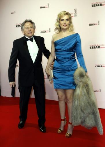 Roman Polanski et sa femme Emmanuelle Seigner à la cérémonie des César le 28 février 2014 © THOMAS SAMSON AFP/Archives