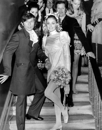 Roman Polanski et Sharon Tate lors de leur mariage à Londres le 20 janvier 1968 ©  AFP/Archives