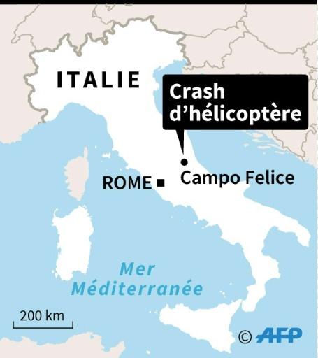 Italie : crash d'hélicoptère © Thomas SAINT-CRICQ, Sophie RAMIS AFP