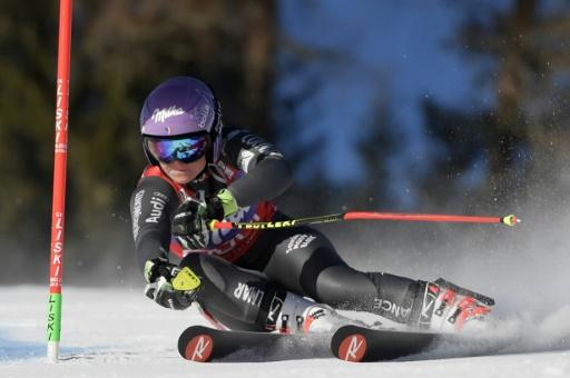 Tessa Worley lors du slalom géant de Kronplatz (Italie), le 24 janvier 2017 © Tiziana FABI AFP