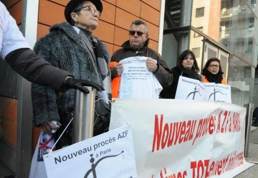 Manifestation à Toulouse à l'occasion de l'ouverture d'un nouveau procès AZF à Paris, le 24 janvier 2017 © PASCAL PAVANI AFP