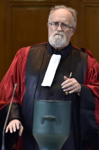 Régis Cayrol, le président de la cour d'assises de Carcassonne le 23 janvier 2017 à l'ouverture du procès de Gérald Seureau, accusé du meurtre de Léa une lycéenne en 2011 © PASCAL PAVANI AFP