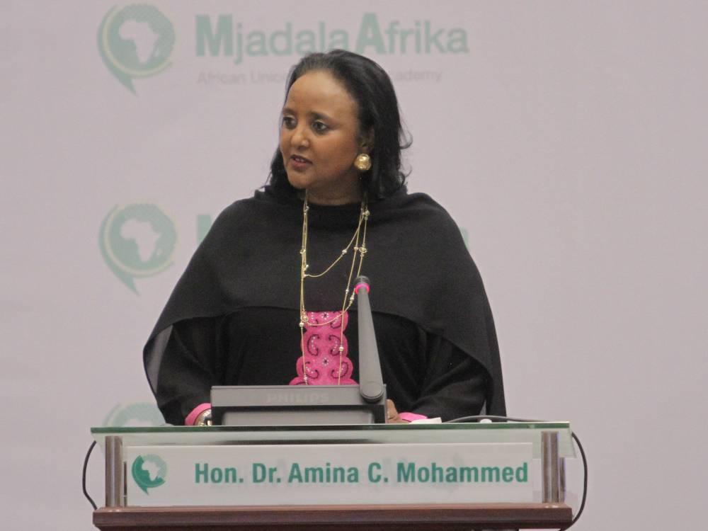 Amina Mohamed Jibril est candidate à la présidence de la commission de l'Union africaine. ©  UA
