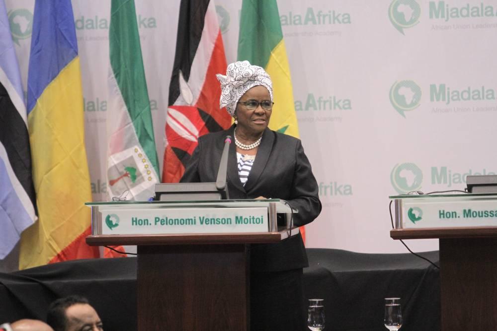 Pelonomi Venson Moito est candidate à la présidence de la commission de l'Union africaine.  ©  UA