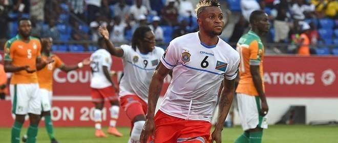 Junior Kabananga, meilleur buteur de ce premier tour de la CAN 2017.