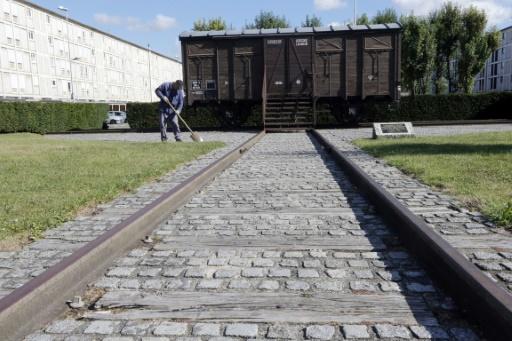 Un wagon utilisé pour la déportation, exposé au mémorial de Drancy © PIERRE VERDY AFP/Archives