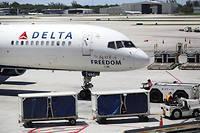 En août 2016, une panne informatique toute bête chez Delta Airlines a  provoqué l'annulation de 2300vols et coûté 100millions de dollars.  ©Joe Raedle/Getty Images/AFP