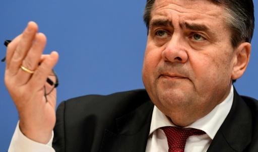 Sigmar Gabriel qui devient nouveau chef de la diplomatie allemande à Berlin, le 25 janvier 2017 © Tobias SCHWARZ AFP
