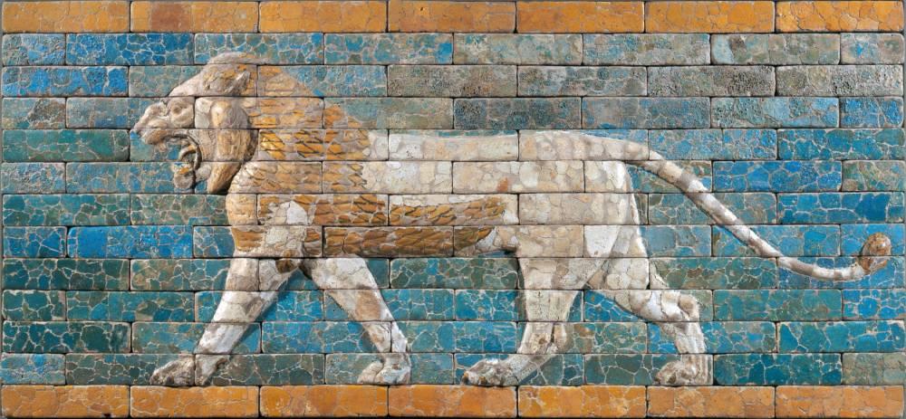 La Mésopotamie, Lion de Babylone © Stéphane Olivier RMN-Grand Palais (musée du Louvre)