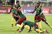 Les Camerounais ont eu raison du Sénégal en quart de finale. ©KHALED DESOUKI