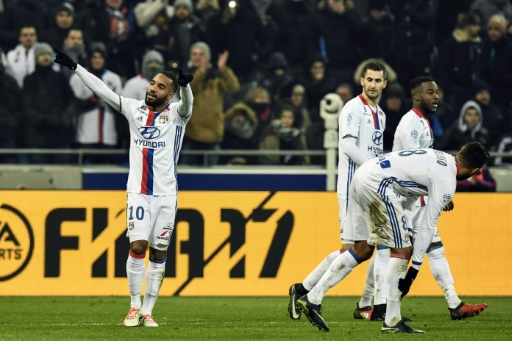 L'Olympique lyonnais avait dominé Marseille avec un doublé d'Alexandre Lacazette au Parc OL, le 22 janvier 2017 © JEFF PACHOUD AFP/Archives
