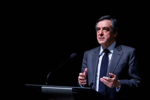 François Fillon le 27 janvier 2017 à Paris © Thomas SAMSON AFP