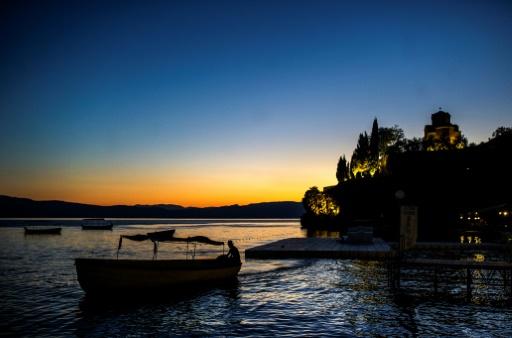 Sur le lac d'Ohrid, en Macédoine, le 14 août 2016 © Robert ATANASOVSKI AFP/Archives