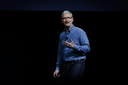 Le PDG d'Apple Tim Cook, le 13 juin 2016 à San Francisco © GABRIELLE LURIE AFP/Archives