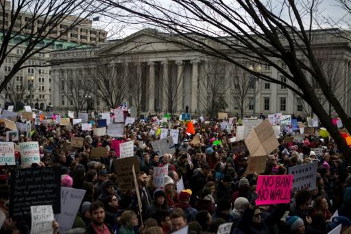 Manifestation devant la Maison Blanche à Washington le 29 janvier 2017 © Chet Strange AFP