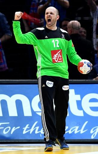 Le gardien de l'équipe de France de handball Vincent Gérard, lors de la finale du Mondial-2017 contre la Norvège, le 29 janvier 2017 à l'AccorHotels Arena de Paris-Bercy © FRANCK FIFE AFP