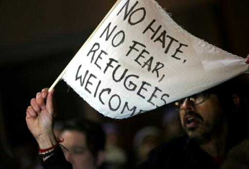 Manifestation à Brooklyn devant un tribunal fédéral contre le décret anti-immigration, le 28 janvier 2017 © Yana Paskova GETTY IMAGES NORTH AMERICA/AFP
