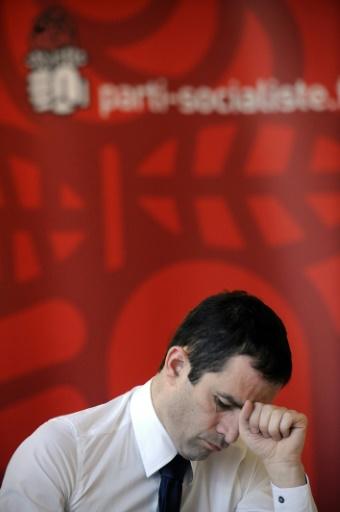 Le porte-parole du Parti socialiste (PS) Benoît Hamon participe à une réunion de travail sur la question du logement, le 18 mars 2009 au siège du PS à Paris © STEPHANE DE SAKUTIN AFP/Archives
