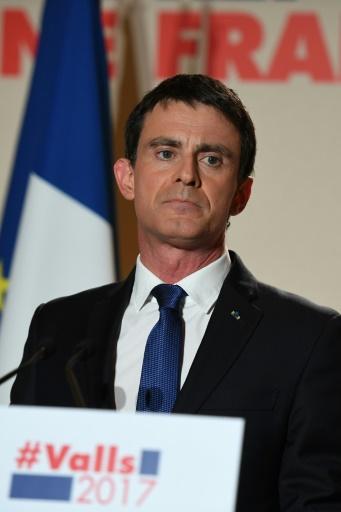 Manuel Valls, le 29 janvier 2017 à Paris © Eric FEFERBERG AFP
