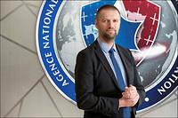 Guillaume Poupard, directeur général de l'Agence nationale de la sécurité des systèmes d'information (Anssi), le 19janvier. ©khanh renaud/square pour «le point»
