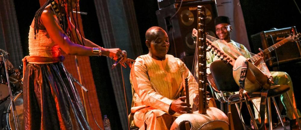 "Festival AcoustiK Bamako (FAB) 2eme edition. Concert -M- ""Lamomali"" en avant premiere mondiale a Bamako © Nicolas REMENE/REA Nicolas REMENE/REA / Nicolas REMENE/REA"