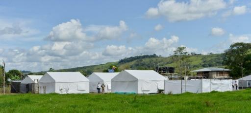 Photo de la présidence colombienne montrant un des camps dans les 26 zones où les membres des Farc vont remettre leurs armes à l'ONU et préparer leur retour à la vie civile, le 5 janvier 2017 en Colombie © JUAN DAVID TENA PRESIDENCIA DE COLOMBIA/AFP/Archives