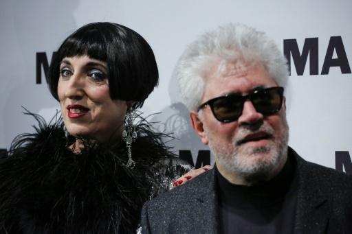 L'actrice Rossy de Palma et le cinéaste Pedro Almodovar au Musée d'Art Moderne le 30 novembre 2016 à New York © KENA BETANCUR AFP/Archives