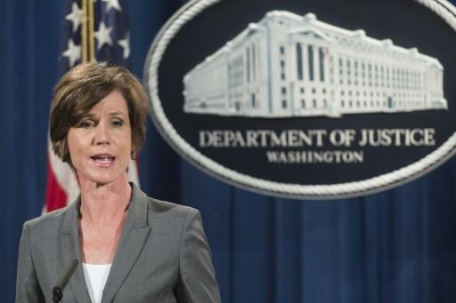 La ministre par intérim de la Justice, Sally Yates, le 28 juin 2016 à Washington © SAUL LOEB AFP/Archives