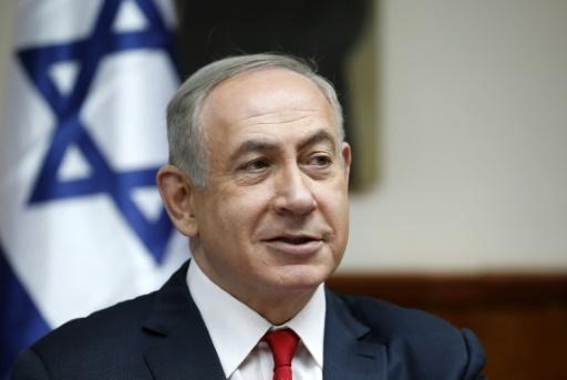 Le Premier ministre israélien Benjamin Netanyahu, le 22 janvier 2017 à Jérusalem © RONEN ZVULUN POOL/AFP