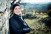Geraldine Godot, viticultrice en Bourgogne ©Christophe FOUQUIN/REA