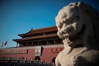 Le portrait de Mao à l'entrée de la Cité interdite de Pékin. ©NICOLAS ASFOURI