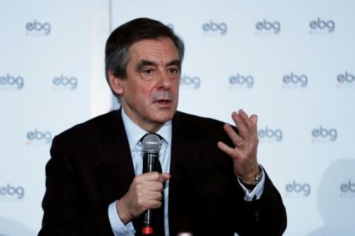 François Fillon lors d'un débat à l'EBG (Electronic Business Group) le 31 janvier 2017 à Paris  © Thomas SAMSON AFP