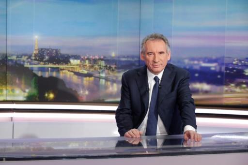 Francois Bayrou invité du journal de 20 h sur TF1 le 31 janvier 2017 à Boulogne-Billancourt © GEOFFROY VAN DER HASSELT AFP