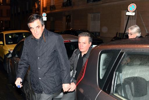 Penelope Fillon (d) et François Fillon (g), le 30 janvier 2017 à Paris © ALAIN JOCARD AFP