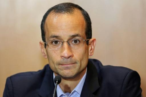 Marcelo Odebrecht, PDG du premier groupe de BTP, lors d'une audition dans l'affaire Petrobras, le 1er septembre 2015 à Curitiba, au Brésil © Heuler Andrey AFP/Archives