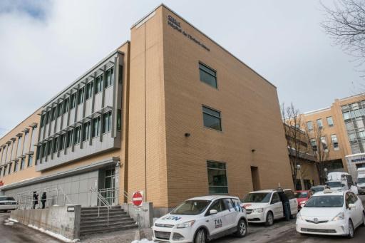 L'hôpital de l'Enfant-Jésus à Québec le 29 janvier 2017 © Alice Chiche AFP