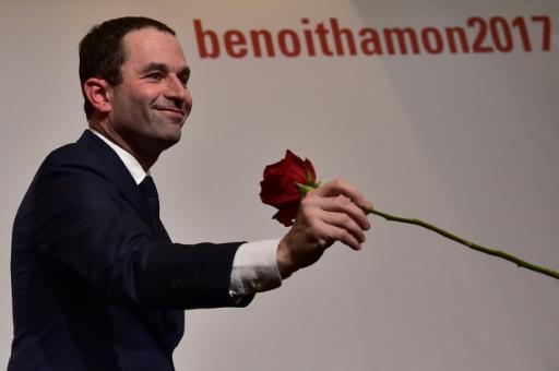 Le vainqueur de la primaire de la gauche, Benoît Hamon le 29 janvier 2017 à Paris © CHRISTOPHE ARCHAMBAULT AFP/Archives