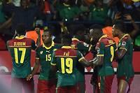 La joie des Camerounais à l'issue de l'ouverture du score face au Ghana. ©ISSOUF SANOGO