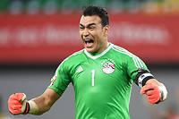 Le gardien égyptien Essam el-Hadary veut transmettre à la nouvelle génération le goût du triomphe à la CAN. Ici, on le voit lors du match de poules entre l'Égypte et le Ghana, le 25 janvier 2017, à Port-Gentil. ©JUSTIN TALLIS