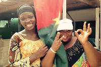 Des supporteurs burkinabè à Libreville.