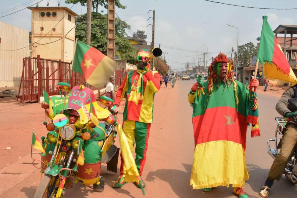Des supporters camerounais dans les rues  de Yaoundé, janvier 2017.  © Jean Pierre Kepseu Jean Pierre Kepseu / Anadolu Agency